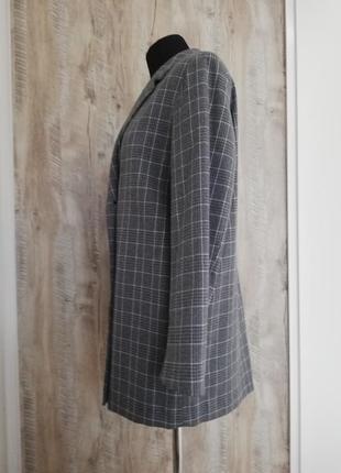 Стильный пиджак в клетку oversize3 фото