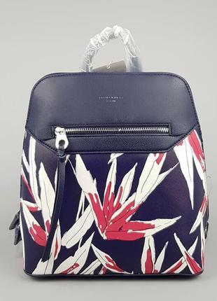 Женский яркий каркасный рюкзак david jones  синий