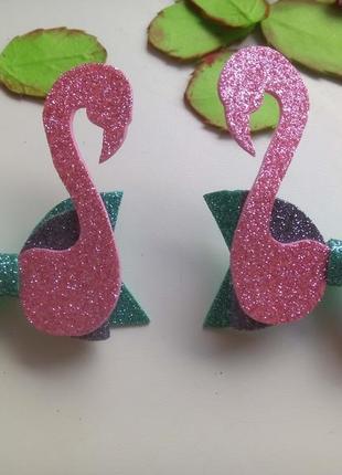Заколки фламинго
