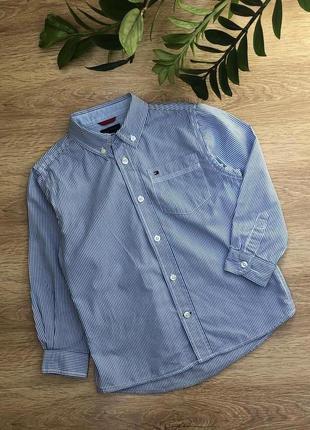 Стильная коттоновая рубашка 5-6 лет