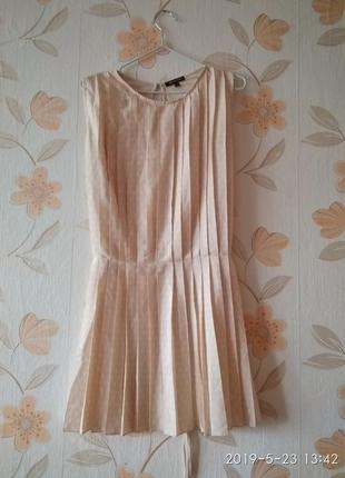 Летнее платье плиссе,плиссеровка massimo dutti
