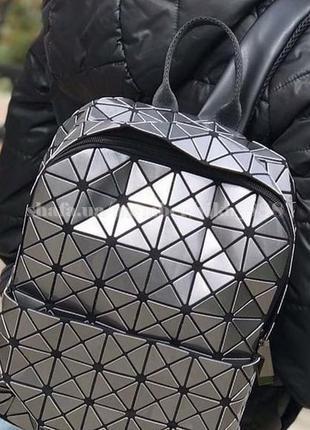 Рюкзак в городском стиле 1306-1 серый лак