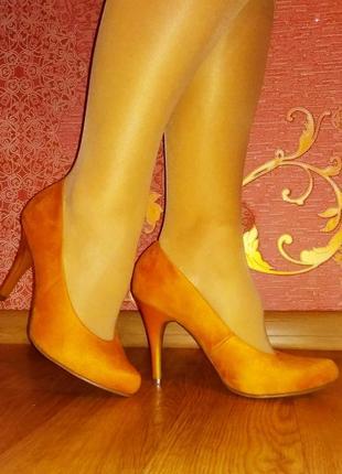 Туфли лодочки из экозамши graceland