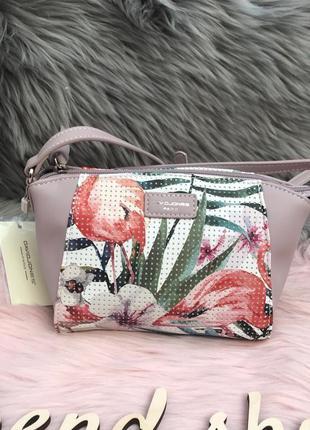 dda72daa3ec9 Стильная сумка через плечо / клатч кроссбоди с цветочным принтом от david  jones