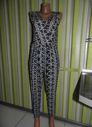Летний комбинезон - брюки -вискоза - mandi uk 10 / m -сток - новое3 фото
