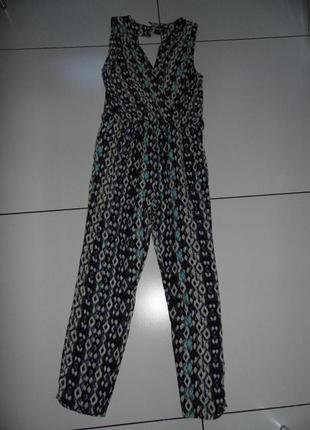 Летний комбинезон - брюки -вискоза - mandi uk 10 / m -сток - новое