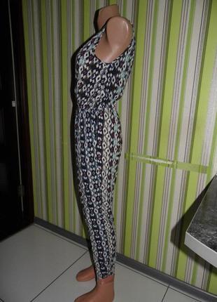 Летний комбинезон - брюки -вискоза - mandi uk 10 / m -сток - новое5 фото