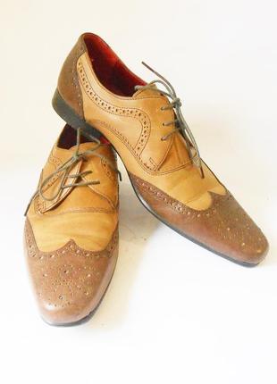 Кожаные мужские туфли от бренда red tape, р.42 код n4205