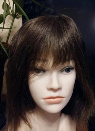 Парик накладка система 100%натуральный волос.