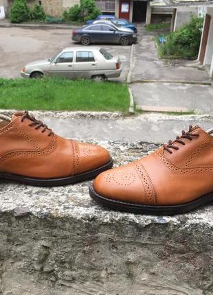 Samuel windsor handmade england кожаные туфли, броги, оксфорды