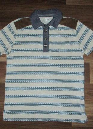 Хорошенькая футболочка-поло фирмы f&f на 7-8 лет