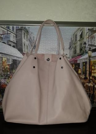 "Женская кожаная сумка ""шопер "" lavarazione artigianale, италия"