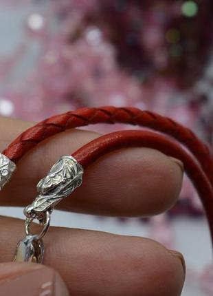 Серебряный #браслет, #драконы, #красная_нить, #оберег #унисекс, #925, все размеры