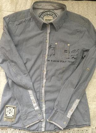 Polo team tom tailor роскошная vip рубашка m\l блуза клетка10\38 блузка оригинал