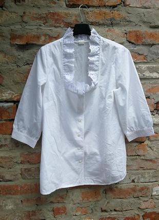 181dc1513ce Блуза рубашка с кружевом жабо