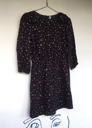 Платье с принтом краска