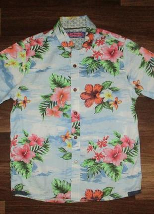 Котоновая рубашечка с коротким рукавом фирмы некст на 7 лет