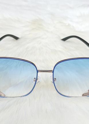 Солнцезащитные очки с голубыми стёклами2 фото