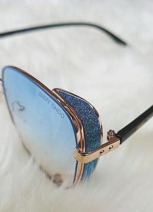 Солнцезащитные очки с голубыми стёклами3 фото