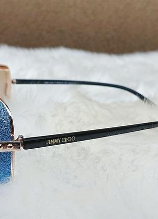 Солнцезащитные очки с голубыми стёклами4 фото