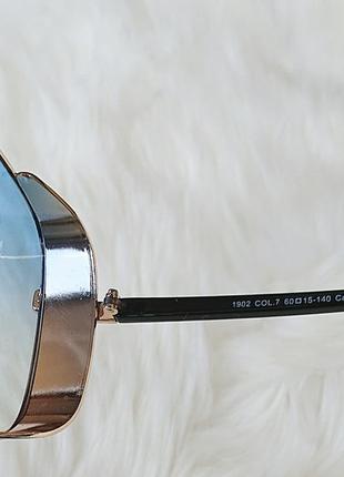Солнцезащитные очки с голубыми стёклами6 фото