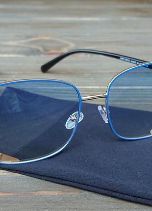 Солнцезащитные очки с голубыми стёклами7 фото