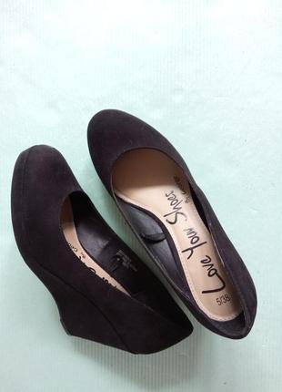 38р.|24 см. чёрные туфли на платформе george