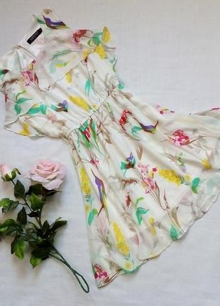 Шифоновое платье с воланом. junpo