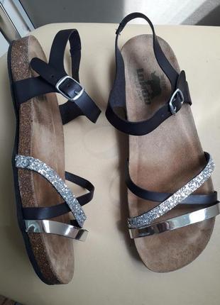 41 р. longo кожаные комфортные босоножки сандалии