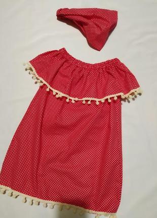 Летнее платье из хлопка с воланом сарафан на девочку sale