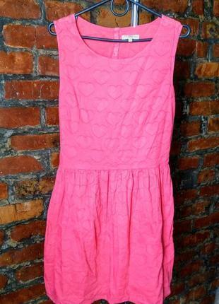 Платье c отрезной талией из коттона/ситца new look