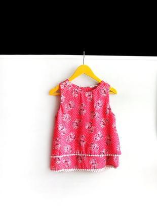 Легкая двойная блузка в цветы george на 8-9 лет / 128-135 см