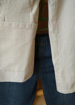 Оригинальный блейзер пиджак в полоску с шелковой подкладкой от balenciaga9 фото