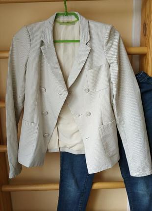 Оригинальный блейзер пиджак в полоску с шелковой подкладкой от balenciaga3 фото