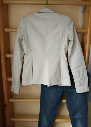 Оригинальный блейзер пиджак в полоску с шелковой подкладкой от balenciaga4 фото