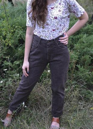 Коричневі джинси бойфренди