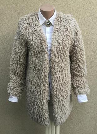 Легкая шубка,меховое пальто,кардиган,тренч барашка,apricot,