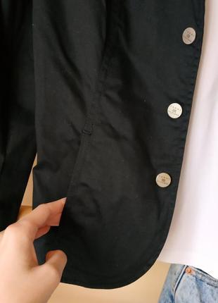 Базовый чёрный блейзер/пиджак в кежуал стиле от tommy hilfiger на кнопки4 фото