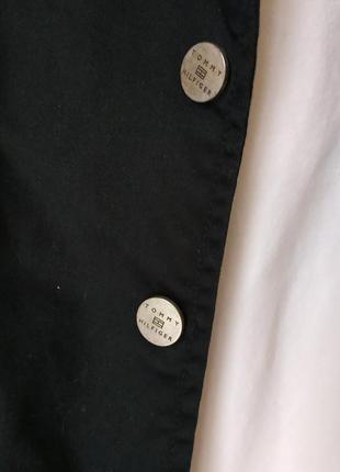 Базовый чёрный блейзер/пиджак в кежуал стиле от tommy hilfiger на кнопки7 фото