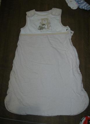 Спальник (спальный мешок) на синтепоне, 0-3-6 мес