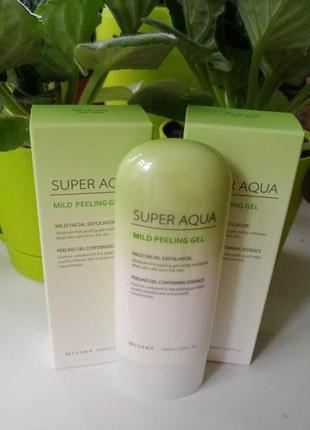 Missha super aqua mild peeling gel пилинг гель скатка для чувствительной кожи