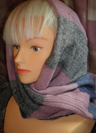 Мягкий тёплый модный шарф платок tommy hilfiger 176х70см качество италия