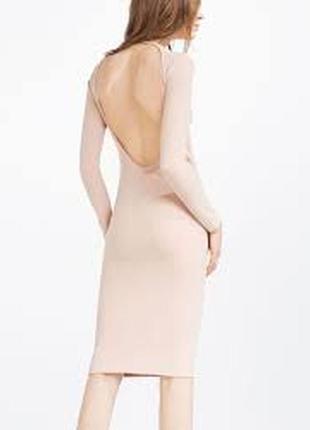 Платье миди по фигурке с открытой спинкой zara2 фото