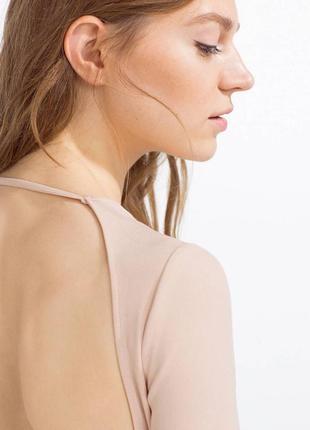 Платье миди по фигурке с открытой спинкой zara3 фото
