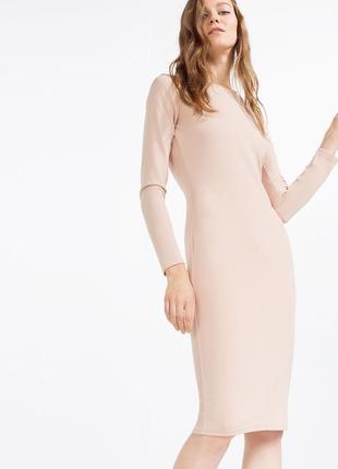 Платье миди по фигурке с открытой спинкой zara4 фото