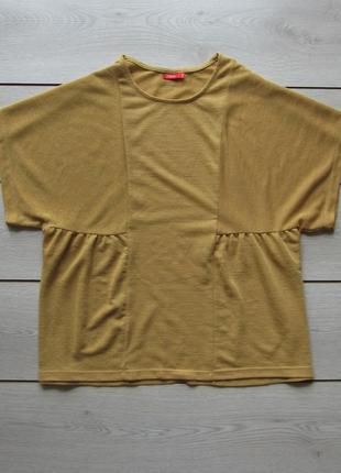 Горчичная блуза интересного кроя от tissaia