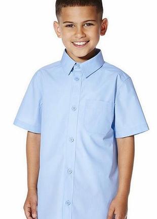 Рубашка  голубая ,короткий рукав от george,на 6-7 лет