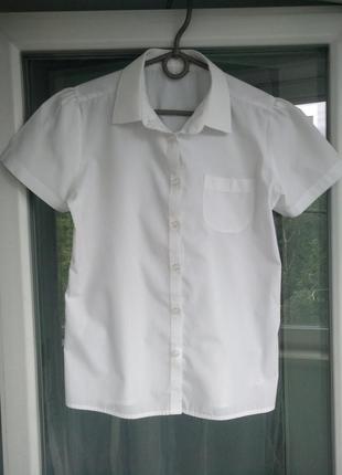 Блузка-рубашка nutmeg р.152-158 девочке 12-13лет белая школьная