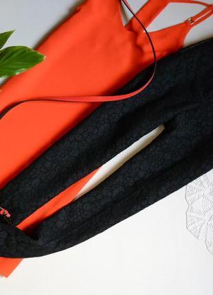 Zara брюки класичні фактурні кружевні