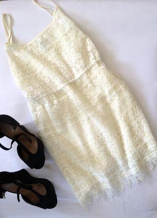 1fac9a4b21f Крутое актуальное кружевное платье на бретельках h m в бильевом стиле  гипюровое